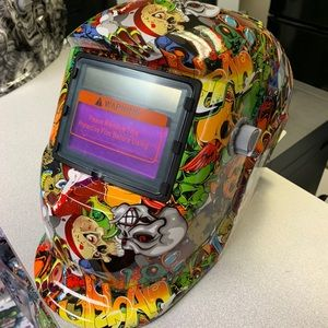 One of a kind HYDROGRAPHIC welding helmet